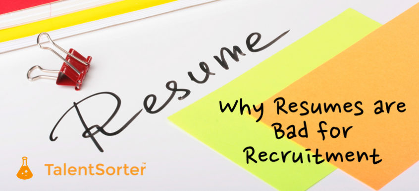 resumes bad for recruitment