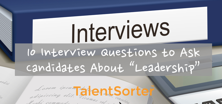 leadership interview questions